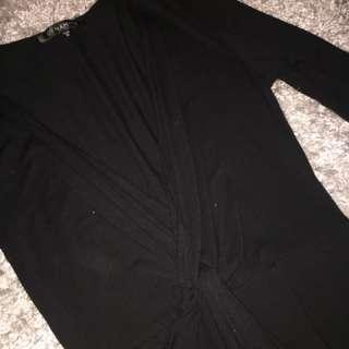 Dynamite wrap front-knot dress