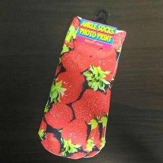 Strawberry Ankle Socks