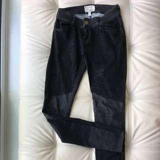 CURRENT ELLIOTT Leather Skinny Jeans Leggings 24 25
