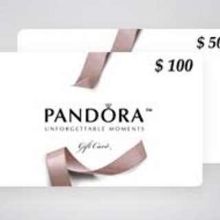 Pandora gift voucher