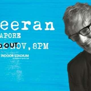 Ed sheeran concert 12 Nov (Cat 1 Section PA2)