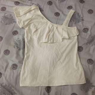 棉質荷葉款女裝衫