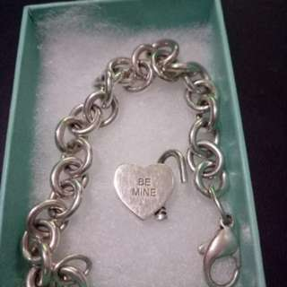 Authentic Tiffany&Co. bracelet with be mine padlock