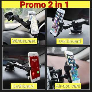 Long neck Phone Holder with air con holder
