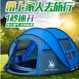 徽羚羊户外3-4人全自動速開免搭建露營家庭加厚便携防雨帳篷