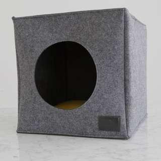 Cubo Pet Bed In Grey (fits IKEA KALLAX shelf)