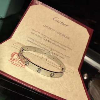 CARTIER BRACELET 10 DIAMOND SILVER