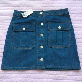 Forever21 denim skirt size small