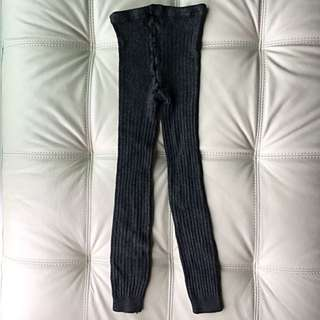 Calvin Klein thick knit tights / ribbed leggings XS