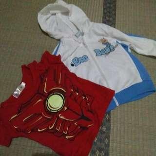 Hoodie and Iron Man Shirt set