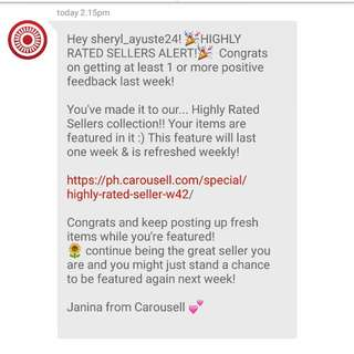 THANK YOU AGAIN CAROUSELL!!  ANOTHER HIGHLY RATED SELLER. ❤