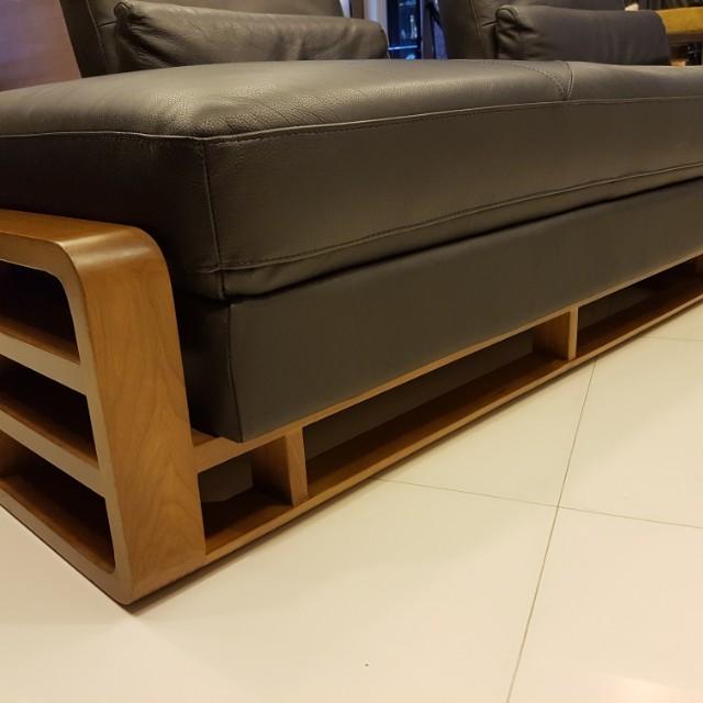 4 seater leather sofa, Furniture, Sofas on Carousell