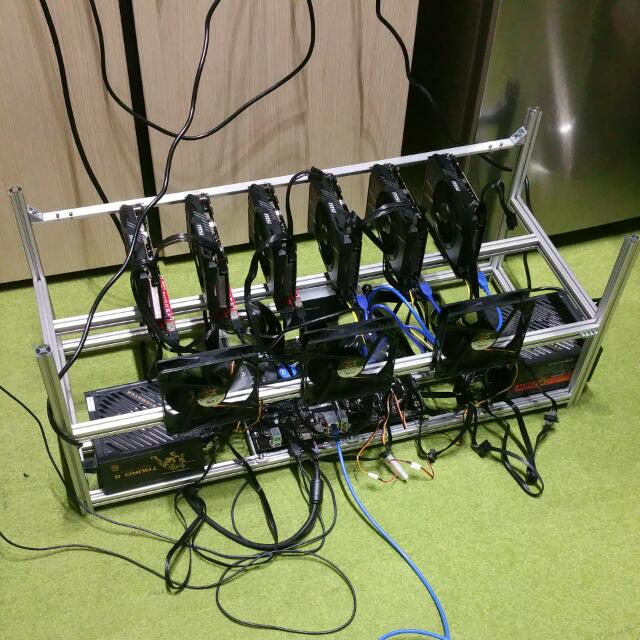 6GPU Mining Rig - Low Power - High Hash Rate - 180mh/s