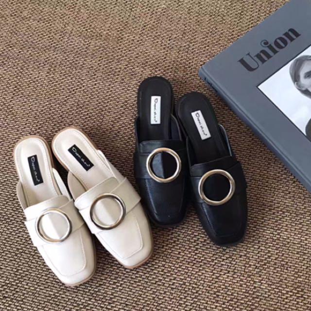 金釦半拖鞋