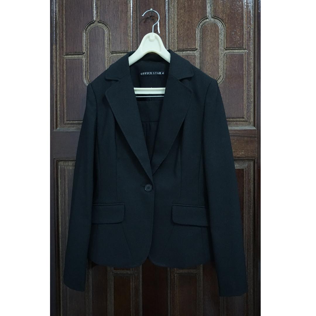 (二手)職業男女 上班族 西裝外套+窄裙 (5號)