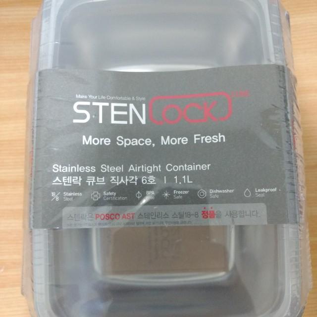 全新 韓國Stenlock高級不鏽鋼304樂扣高蓋保鮮盒 便當盒 飯盒