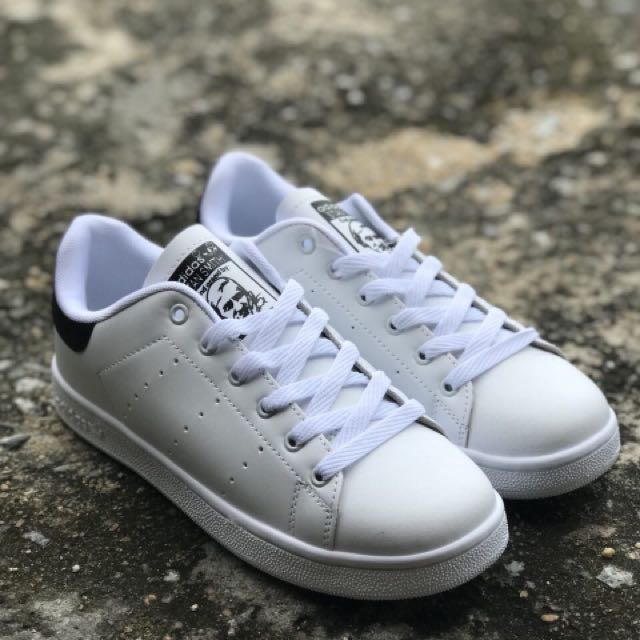 4c7b742f53d ADIDAS STAN SMITH WHITE BLACK (GRED AAA)