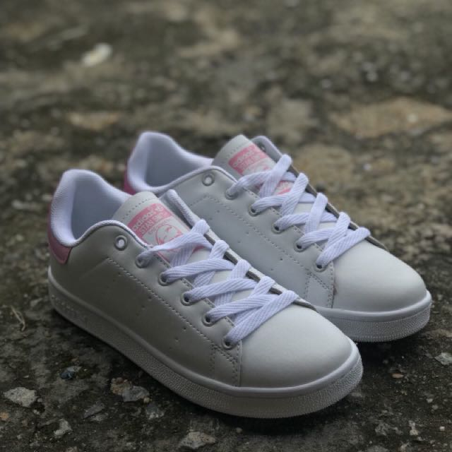 c5e8d744d4c ADIDAS STAN SMITH WHITE PINK (GRED AAA)