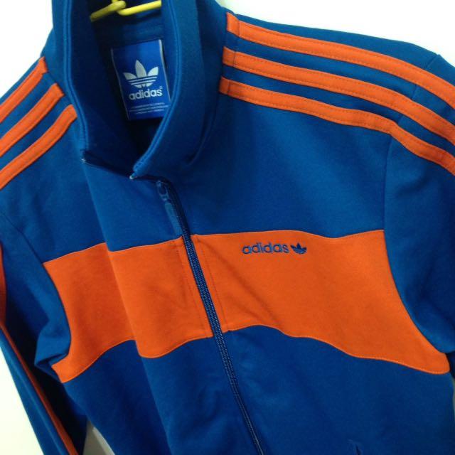 Adidas Vintage 復古橘藍配色 運動外套 立領