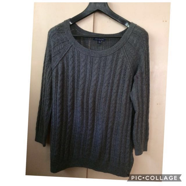 American eagle cableknit pullover