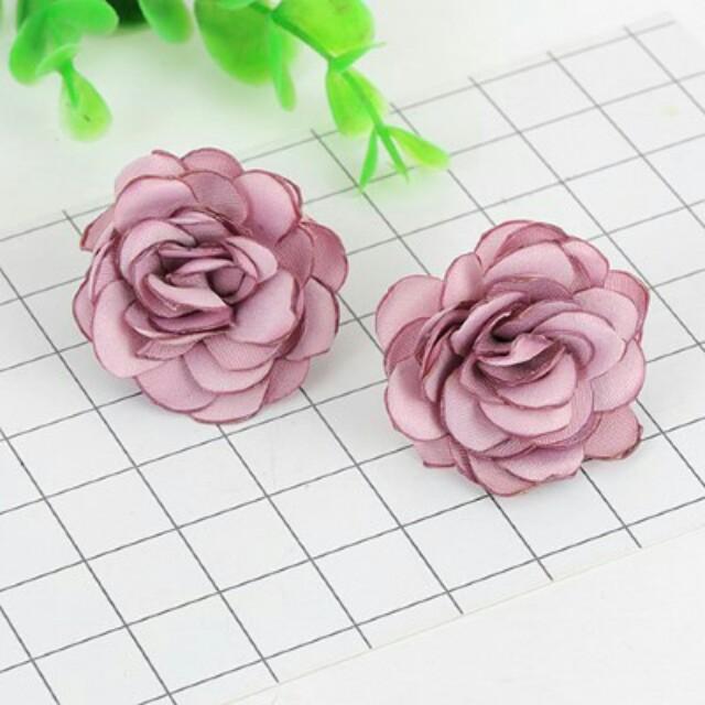 Anting Tusuk Flower Rose Purple