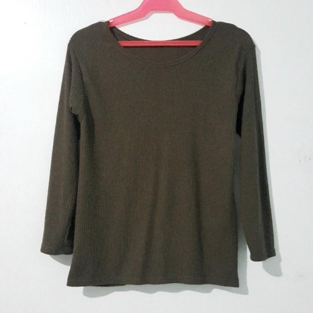 Army green long sleeves