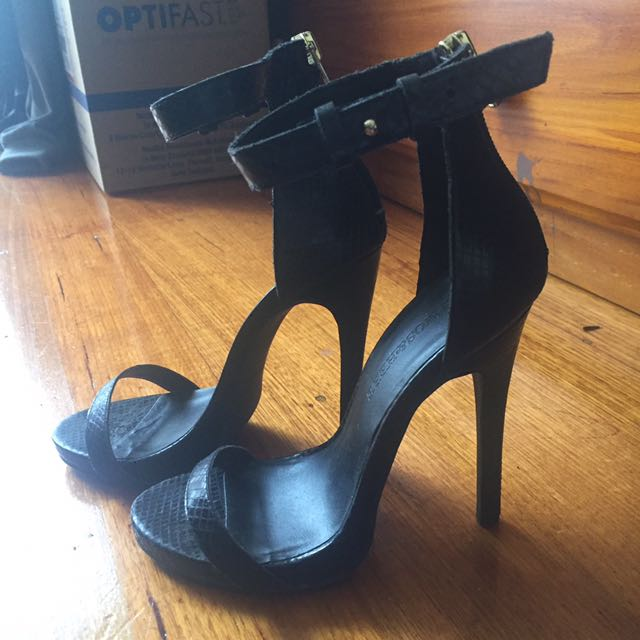Atmos&here black strap shoes size 5