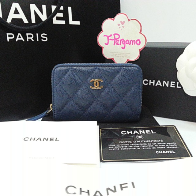 Authentic LNIB Chanel Quilted Caviar Zippy Card Holder GHW {{ Only For Sale }} ** No Trade ** {{ Fixed Price Non-Neg }} ** 定价 **