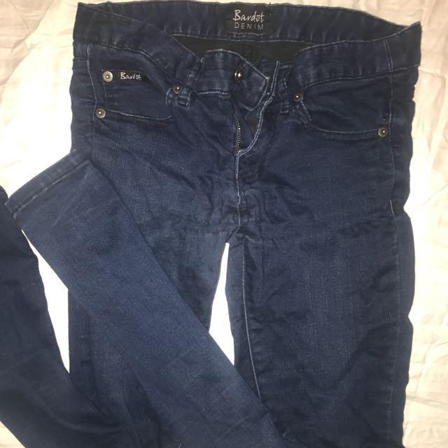 Bardot blue skinny jeans size 6