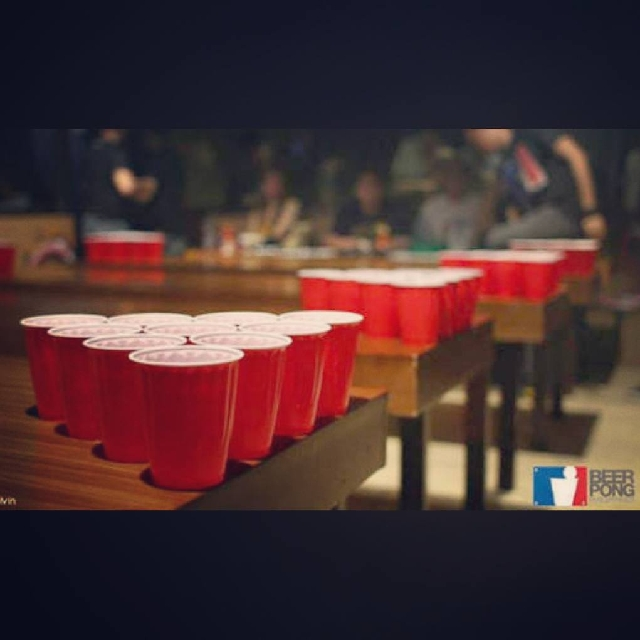 Beer pong red cups