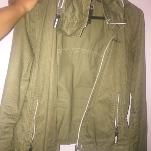 Bench olive green windbreaker/ jacket
