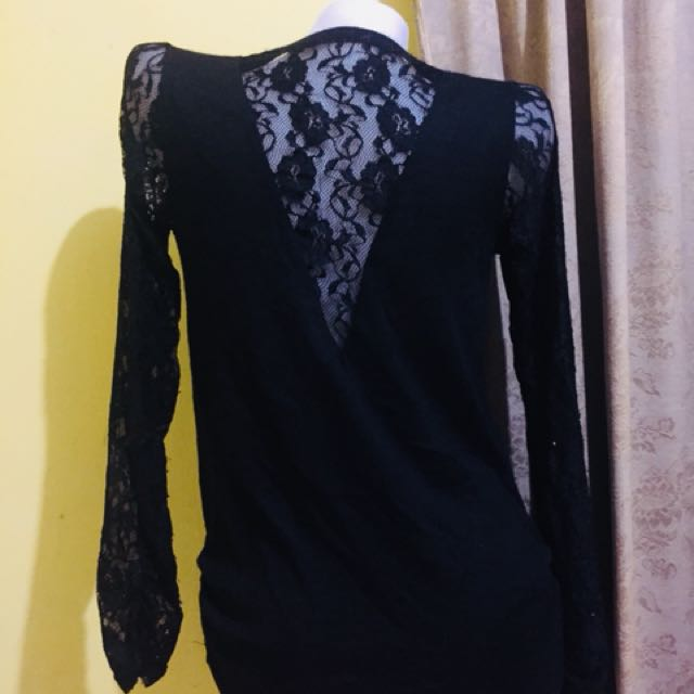 Black Lace Rollover (Stretchy)