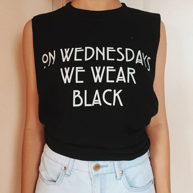 Black Muscle Tee (On Wednesdays We Wear Black)