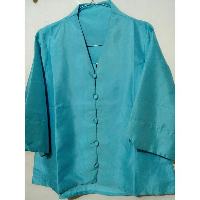 Blue Tunic Top - Atasan Pesta #cintadiskon