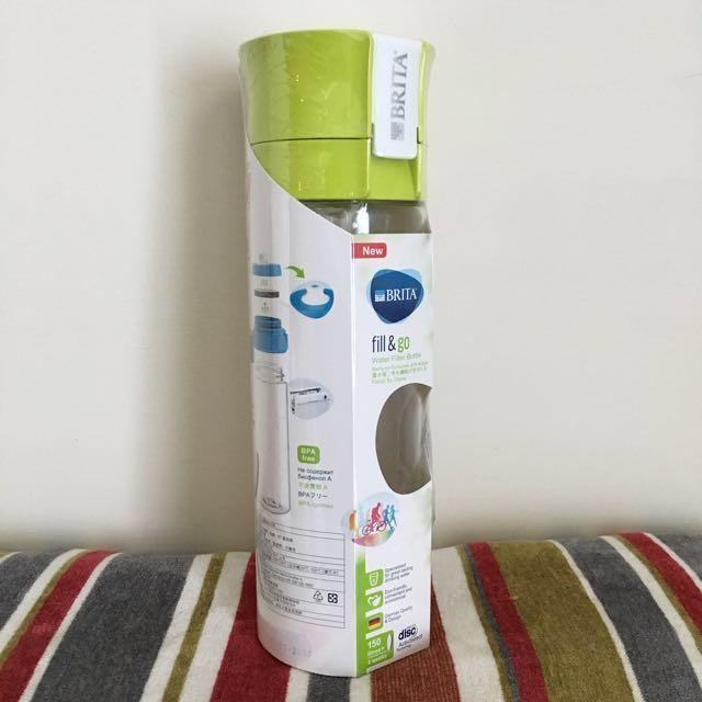 全新Brita 隨身濾水瓶-綠色 (內含濾片)