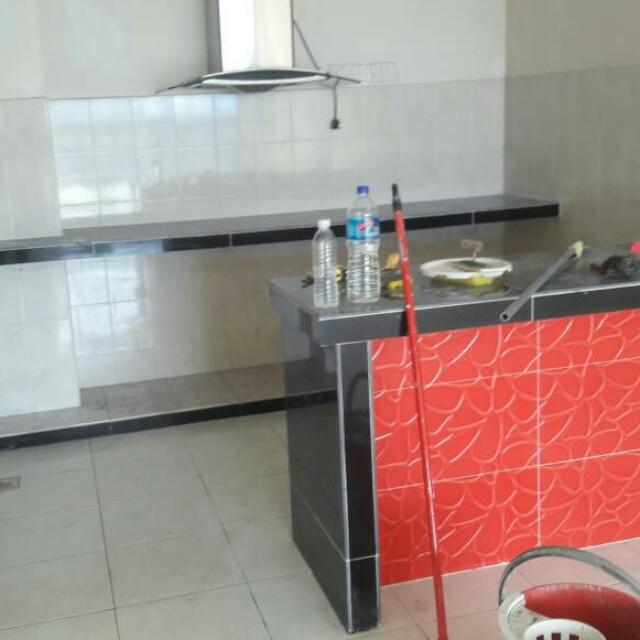 Buat Dan Pasang Tabletop Kabinet Dapur Area Hulu Kelang Rumah
