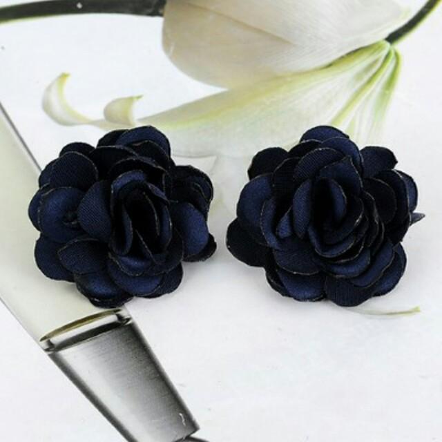 C82681 - Anting Tusuk Flower Rose Blue