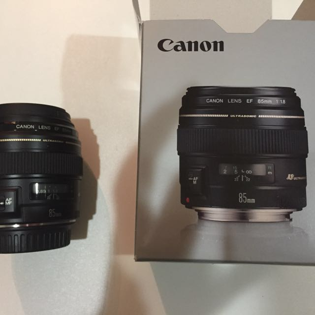 Canon EF 85mm f/1.8 USM telephoto lens