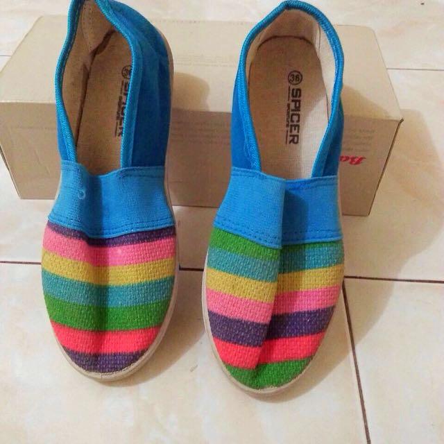 Casual rainbow flatshoes