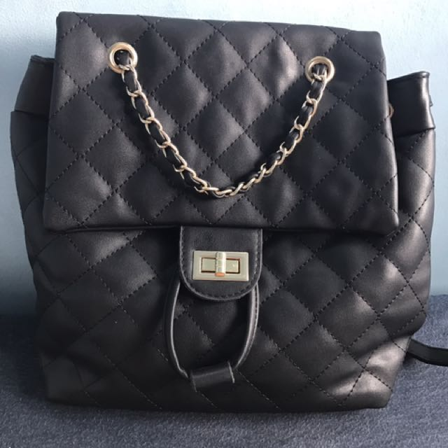 44b1e891f158 Chanel inspired backpack on Carousell
