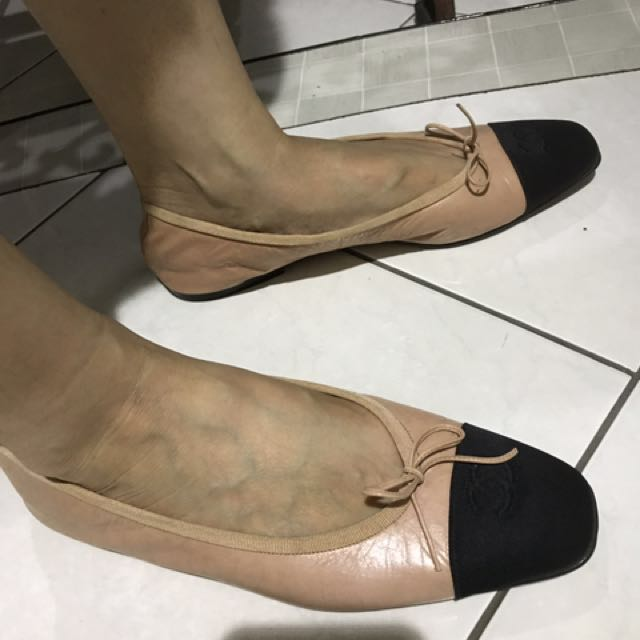 Channel ballerina shoes