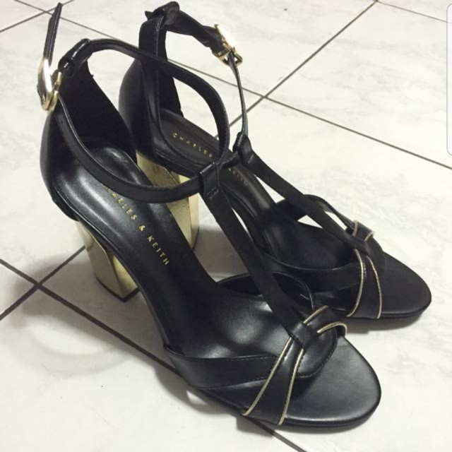 Charles and Keith Block High Heel Shoes