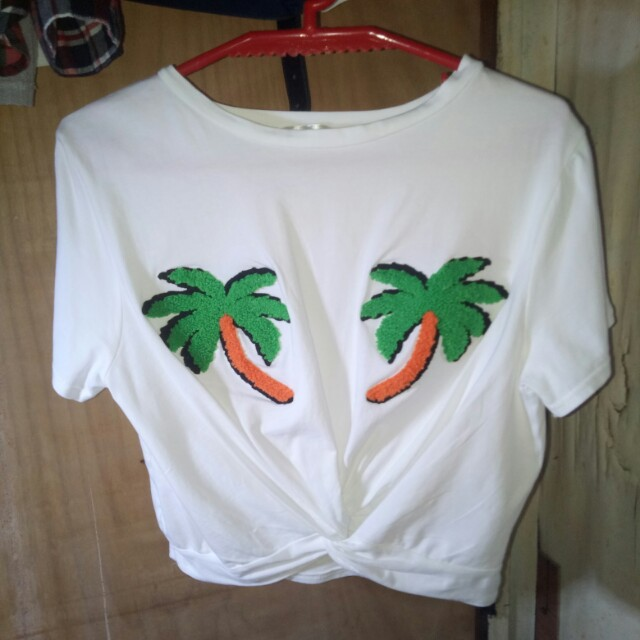 Coconut twisted crop top