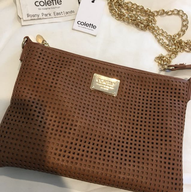 Colette clutch (brand new, comes with chain strap)
