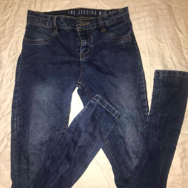 Cotton on jeggings blue size 6