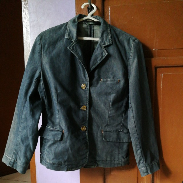 denim blazer fits med to semi large