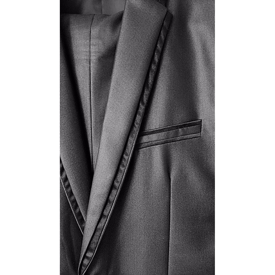 DIHAOJIENI HIGH FASHION 3 PIECE SUIT - CHARCOAL COLOUR - USED ONCE FOR 2 HOURS