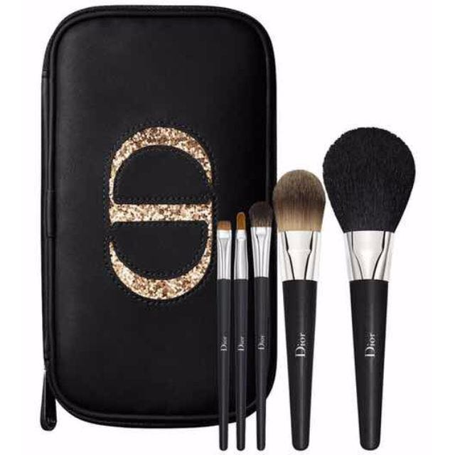 0605173b Dior Backstage Brushes Collection - travel brush set with pouch