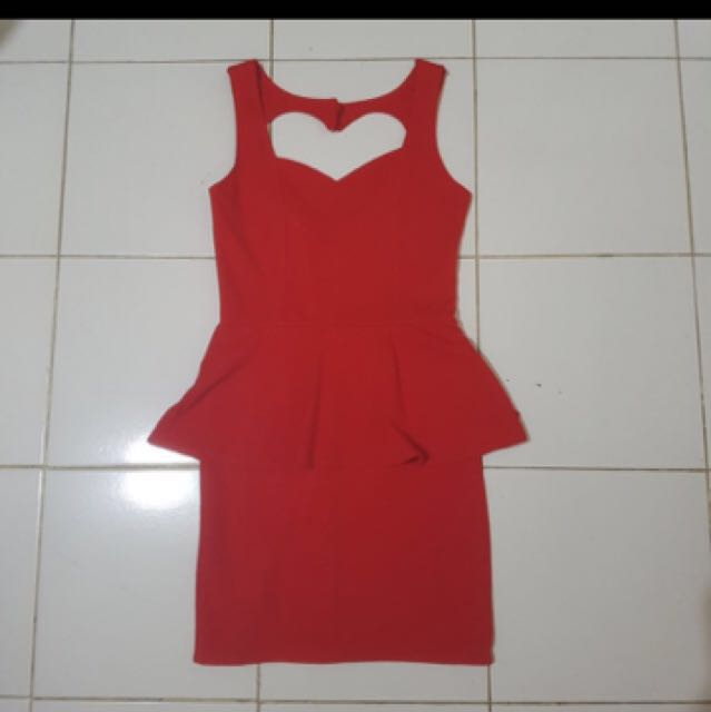 Dress back love red