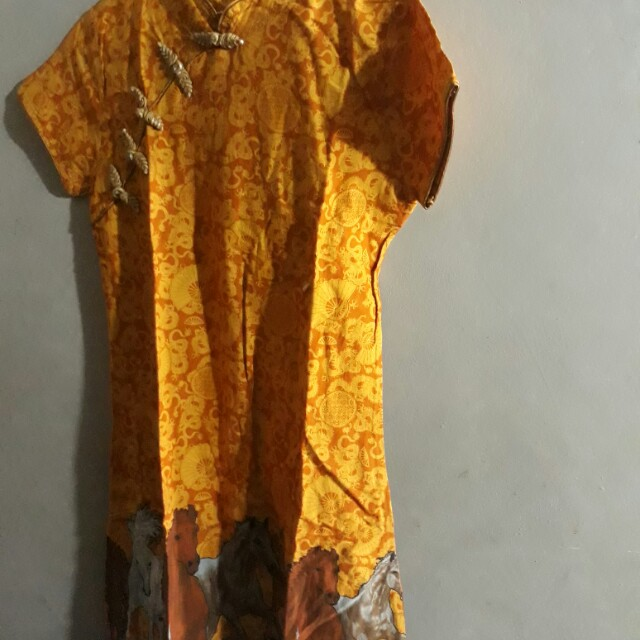 Dress batik chinese